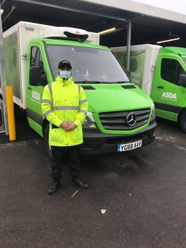 Asda Burnley delivery driver Wajid Hussain battles through snow