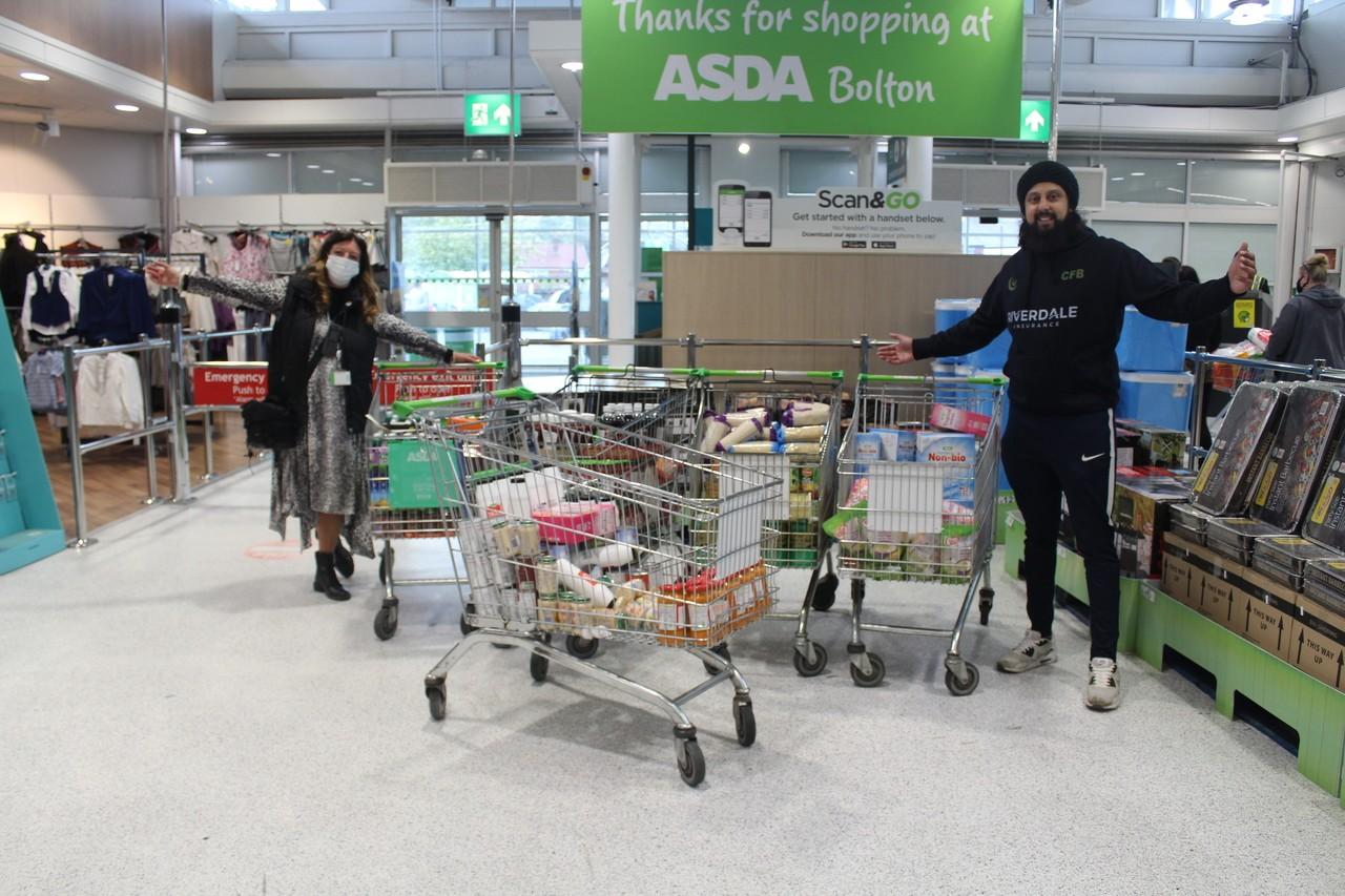 Crescent Foodbank grant | Asda Bolton