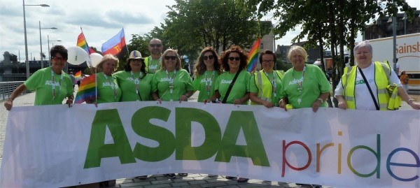 Asda colleagues at Glasgow Pride