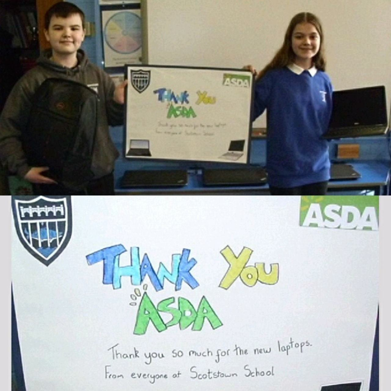 Laptop donation  | Asda Middleton Park