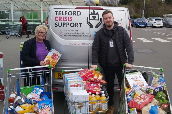 Supporting the local foodbank  | Asda Donnington Wood