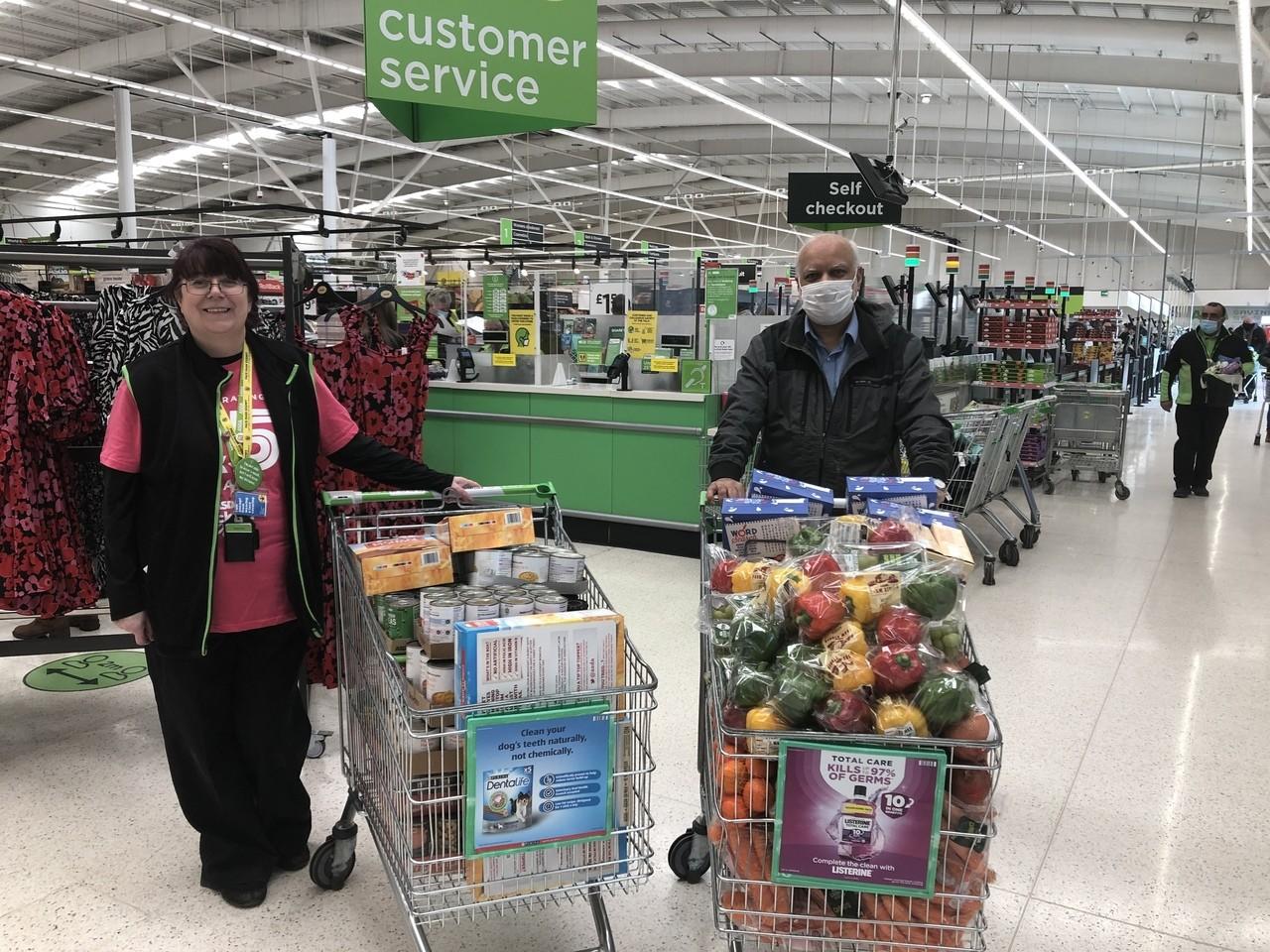 Helping provide food for community   Asda Nottingham West Bridgford