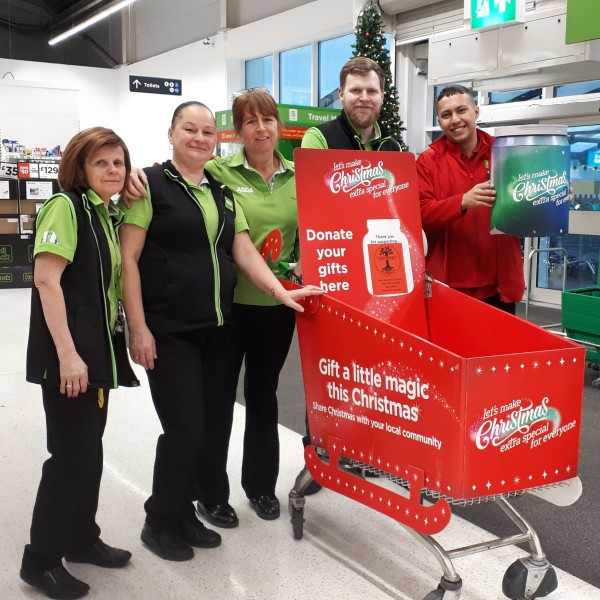 Christmas charity support at Asda Boston
