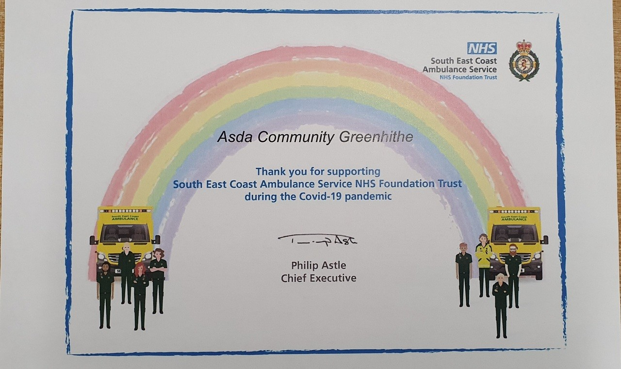 Ambulance service thanks | Asda Greenhithe