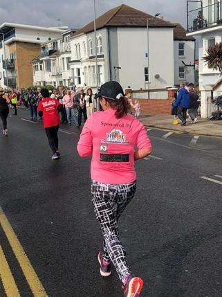 Laura Burton from Asda South Woodham Ferrers is training for the London Marathon