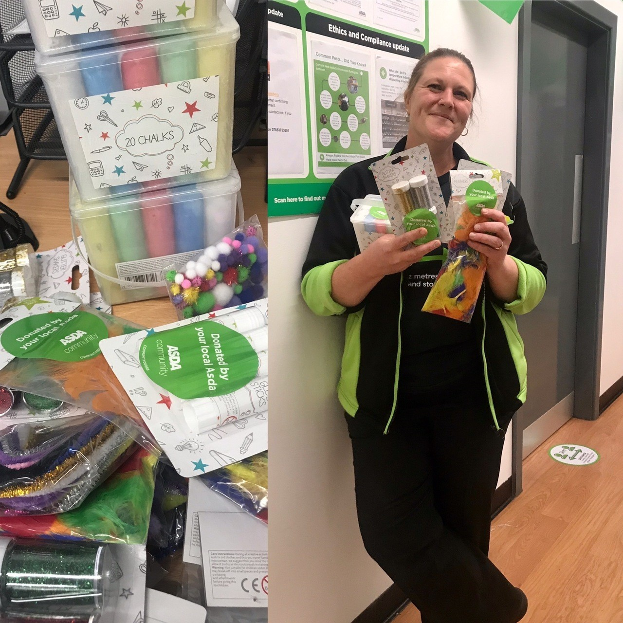 Donation to Frome Open Storytellers | Asda Frome