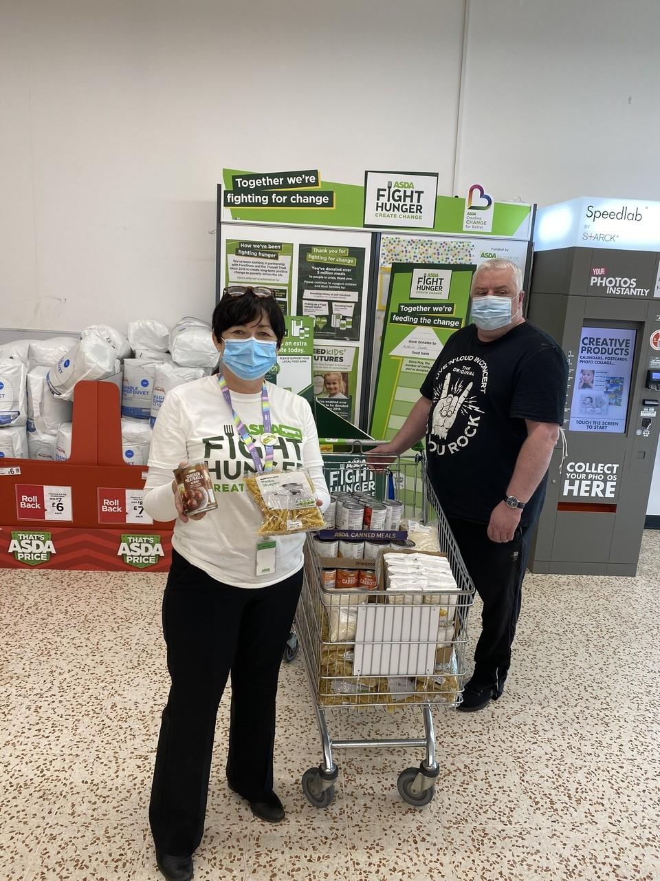 Halo Helping Hands Foodbank   Asda Cookstown