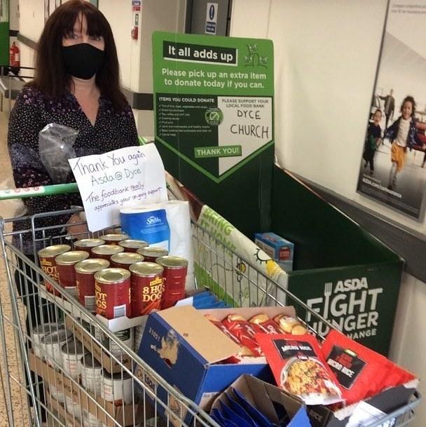 Dyce Parish Church Foodbank support | Asda Dyce