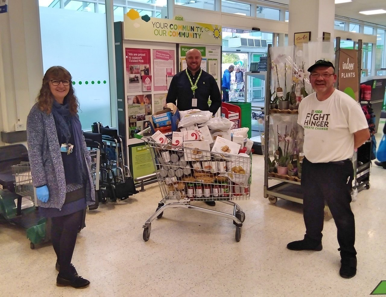 Support for local food bank | Asda Stafford