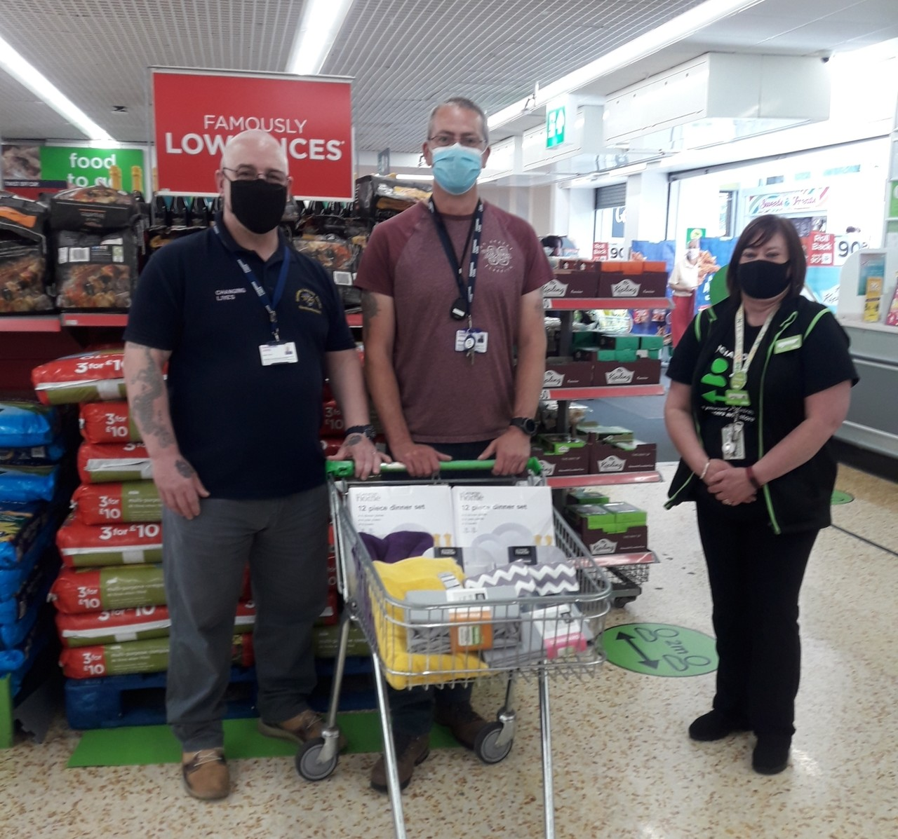 Donation to Changing Lives North East | Asda Cramlington