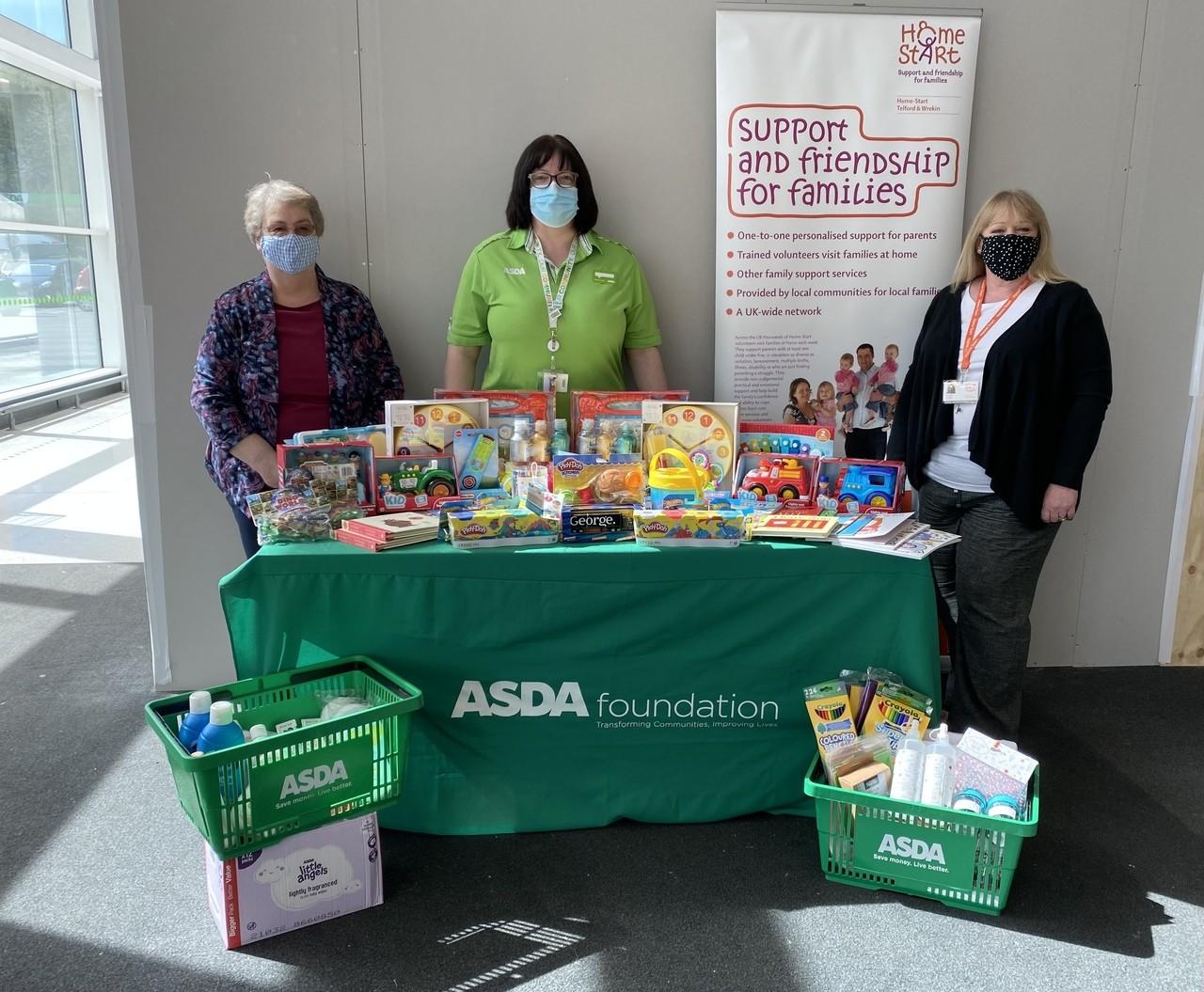 Home Start Telford and Wrekin donation | Asda Telford