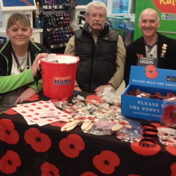 Poppy Appeal at Asda Wrexham