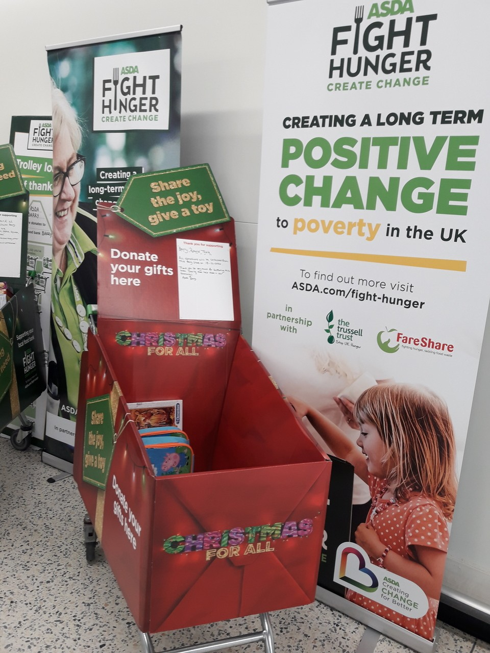 Christmas toy appeal at Asda Barry | Asda Barry