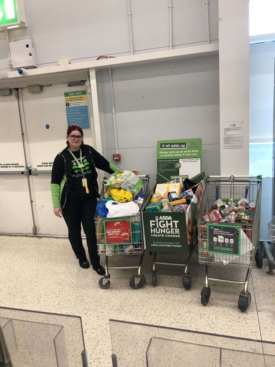Support for Fight Hunger Create Change | Asda Chelmsley Wood