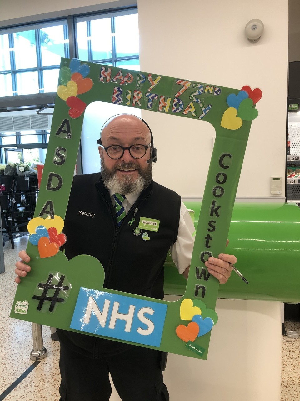 More Selfie Board- Celebrations NHS 72nd Birthday 🌈🌈🌈🌈 | Asda Cookstown