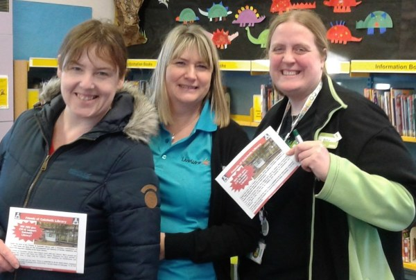 Asda community champions helping Friends of Culcheth Library