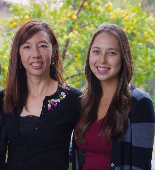 Fiona Tan and her daughter Juliette