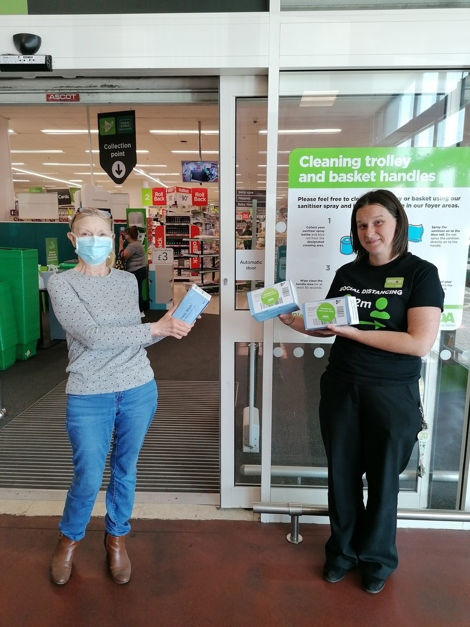 Face mask donations to local care homes | Asda Wythenshawe