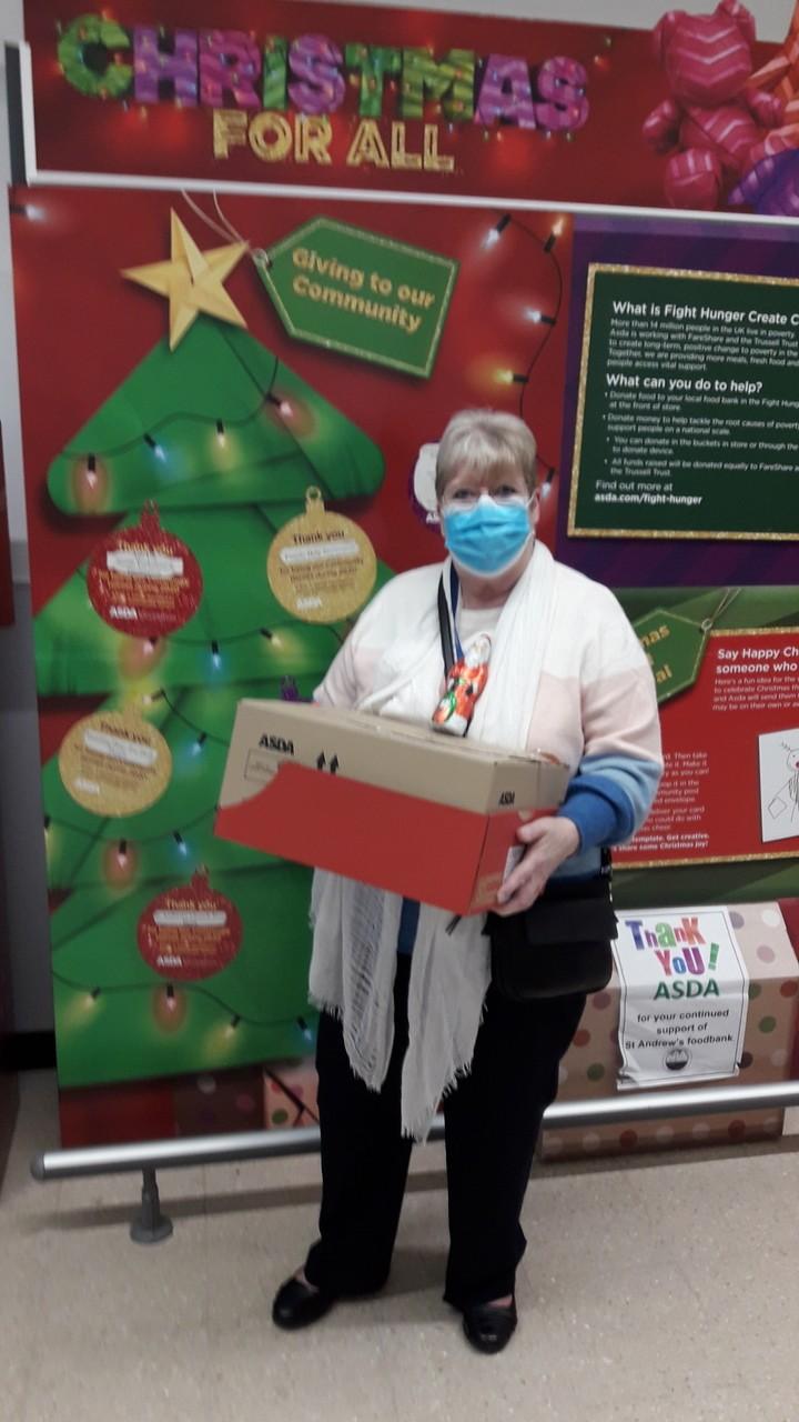 Chocolate Santas for the children's ward at Darlington Memorial Hospital | Asda Darlington