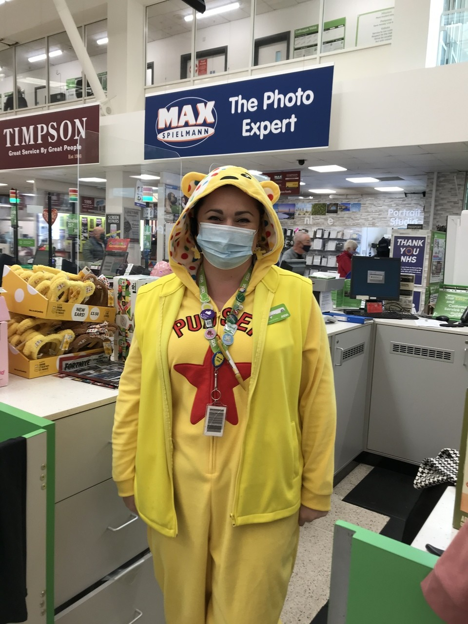 Celebrating Children in Need with a fancy dress day  | Asda Swansea