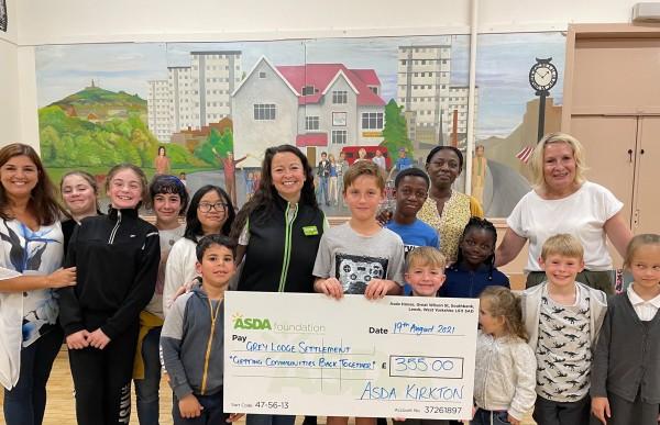 Asda Foundation grant for Grey Lodge Settlement from Asda Dundee Kirkton