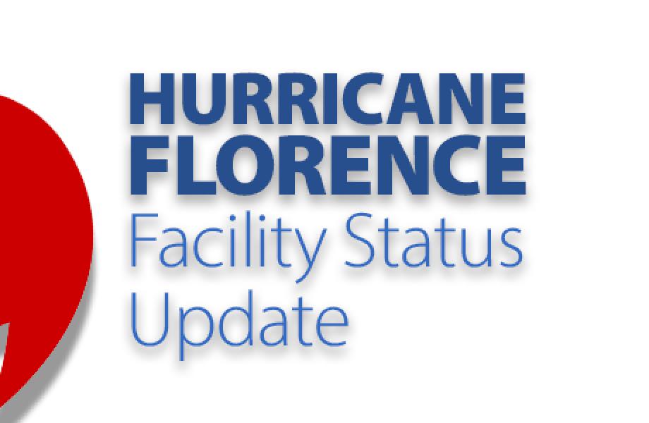Hurricane Florence update graphic