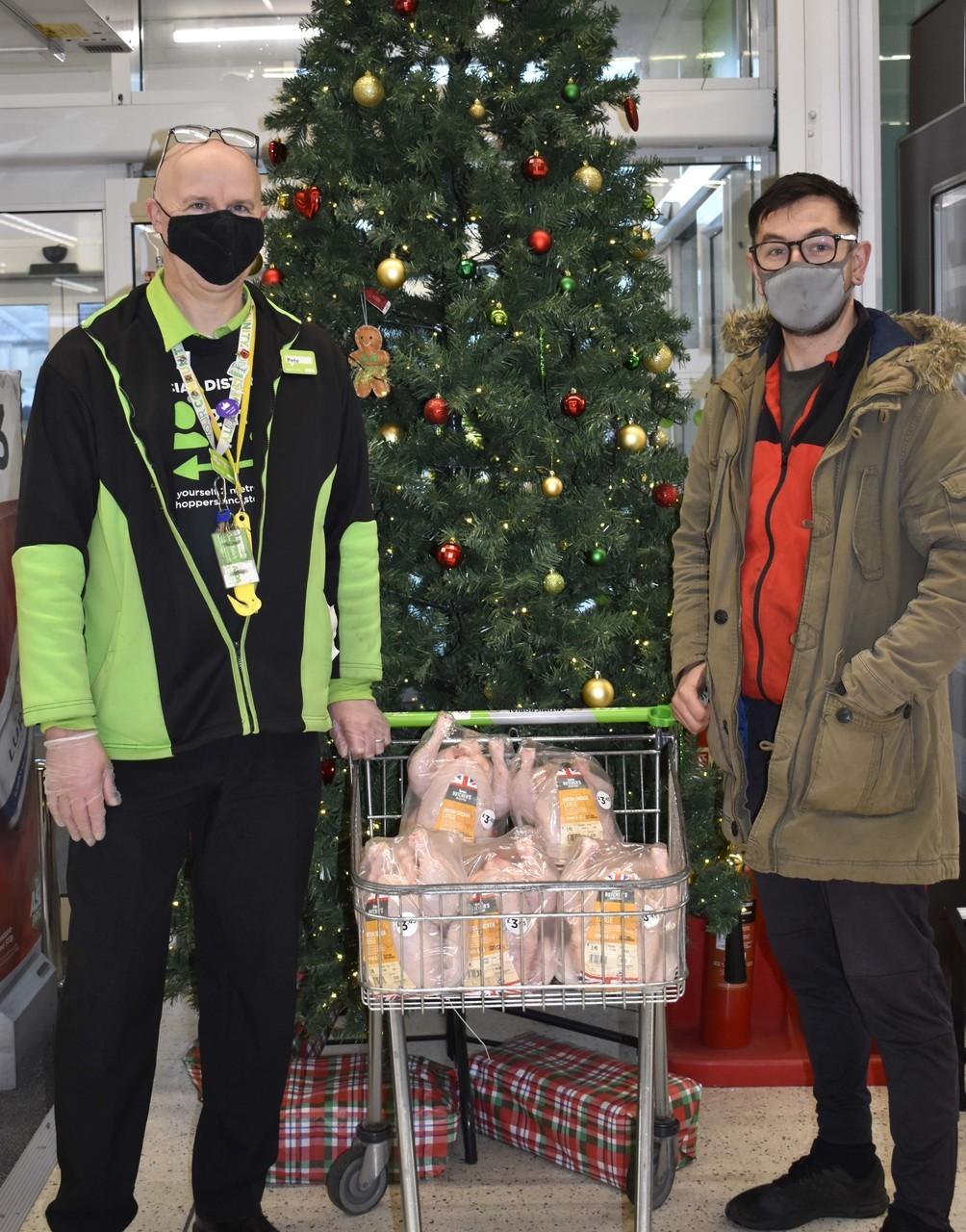 Christmas dinner donation | Asda Bideford
