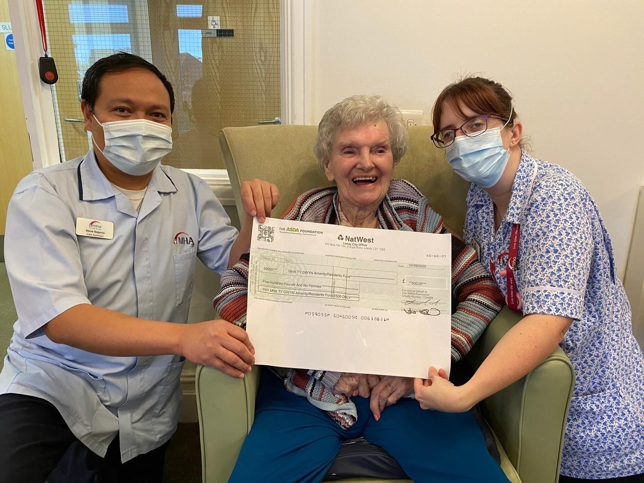 Hygiene grant for Ty Gwyn Care Home | Asda Cardiff Bay