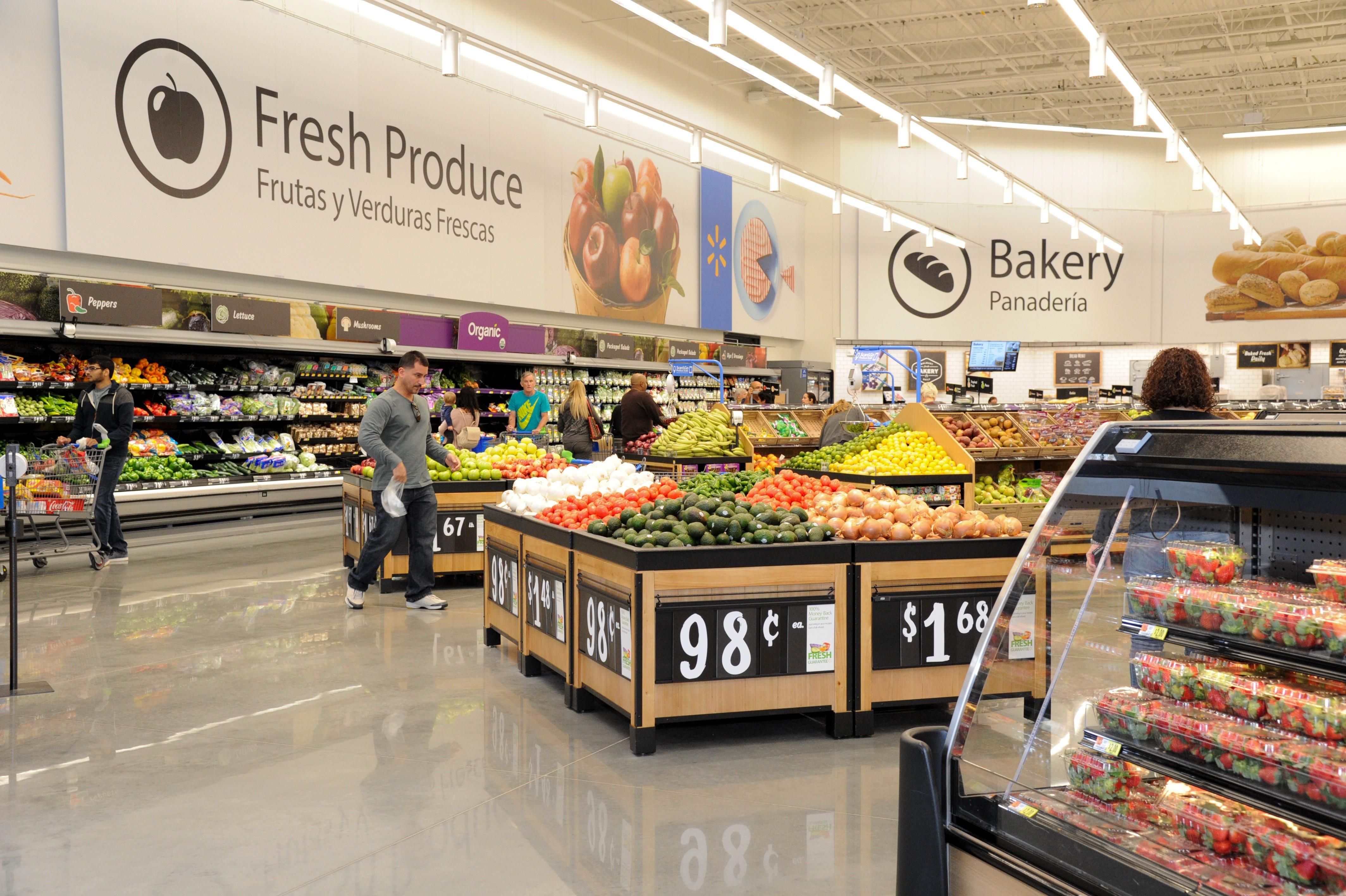 Walmart Supercenter reinvention test store layout