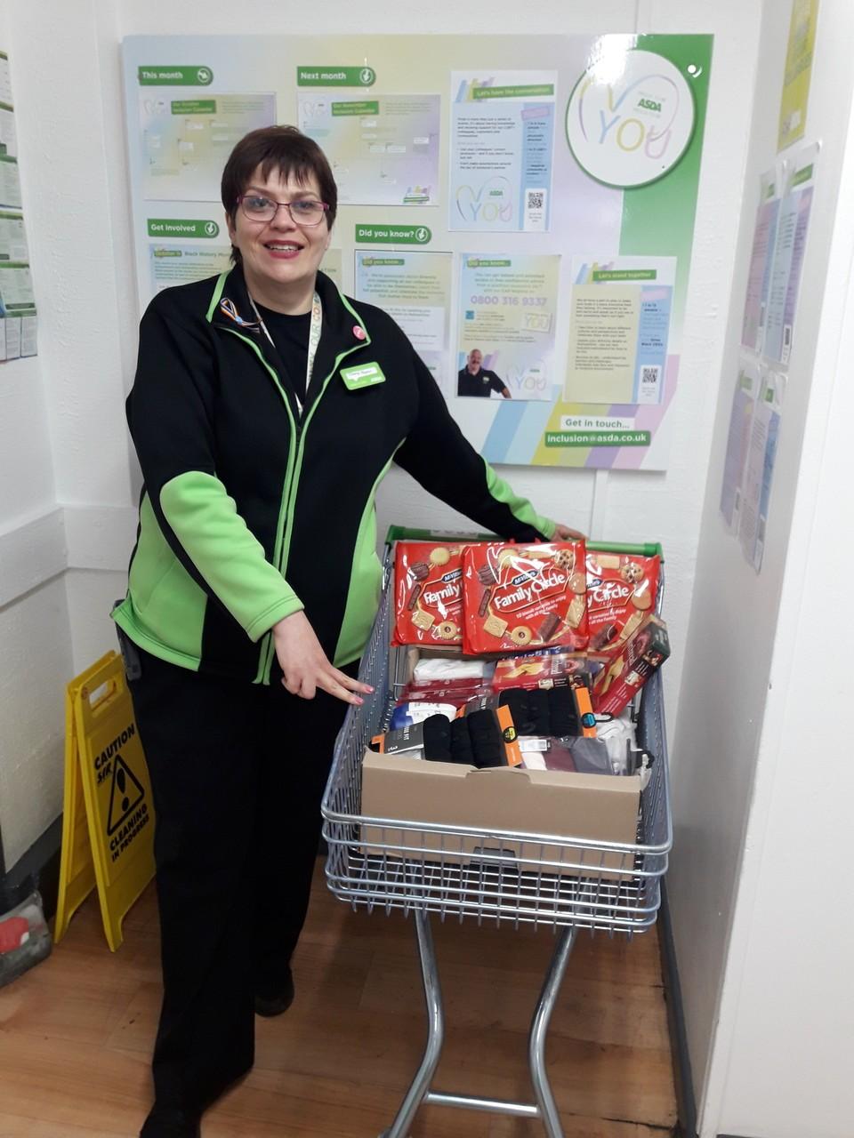 Donation to Ashton View Care Home | Asda Golborne