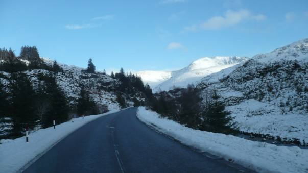 A snowy crossing for Asda's Highlands delivery drivers