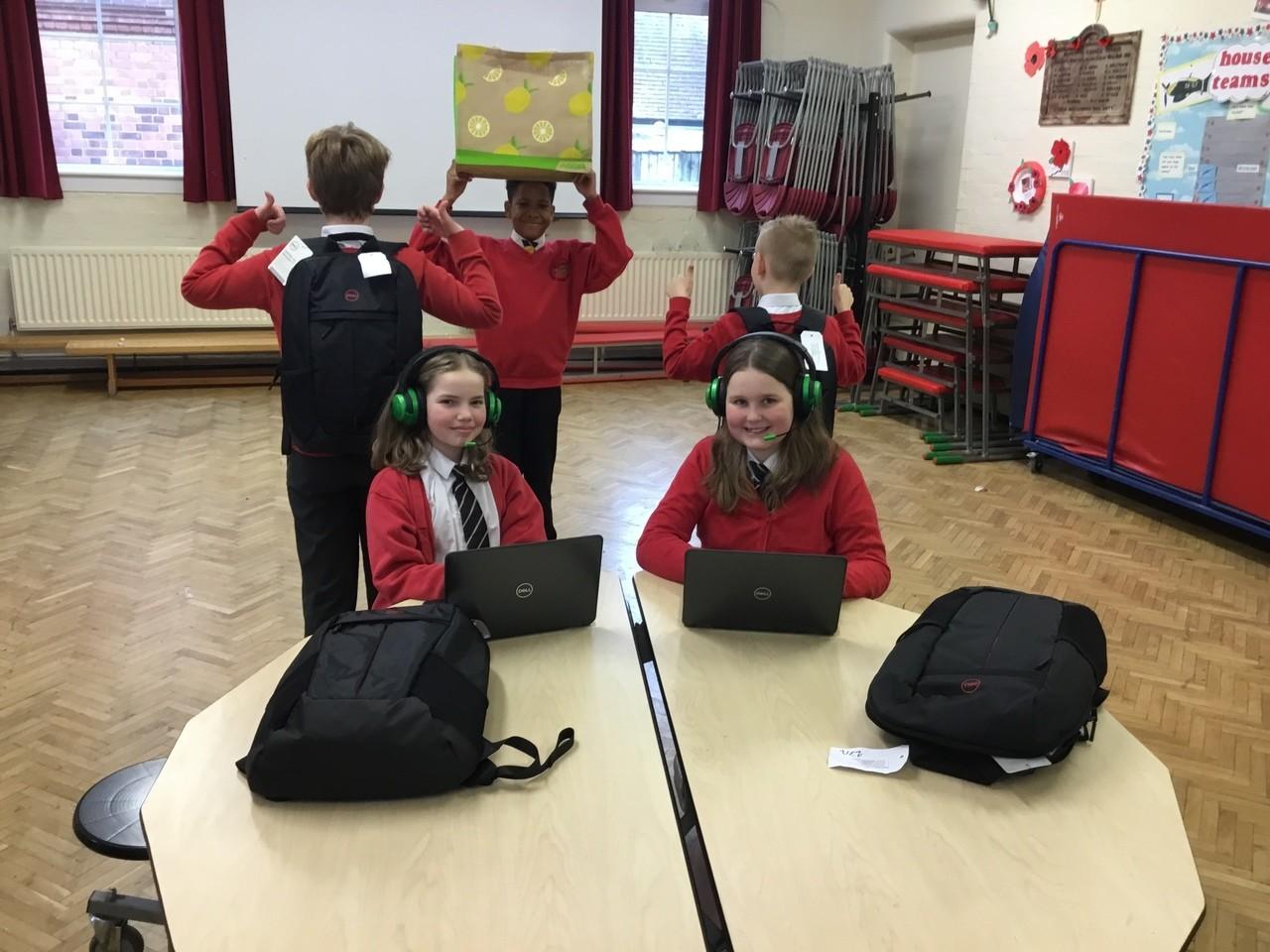 Donation of laptops   Asda Minworth