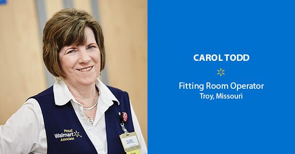 Carol Todd, Fitting Room Operator – Troy, Missouri