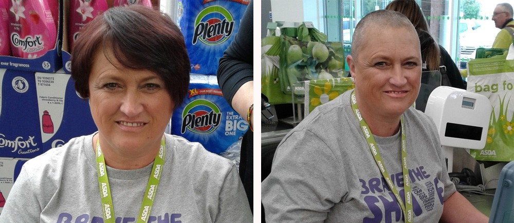 Jen Brewis from Asda Benton has braved the shave for Macmillan Cancer Support