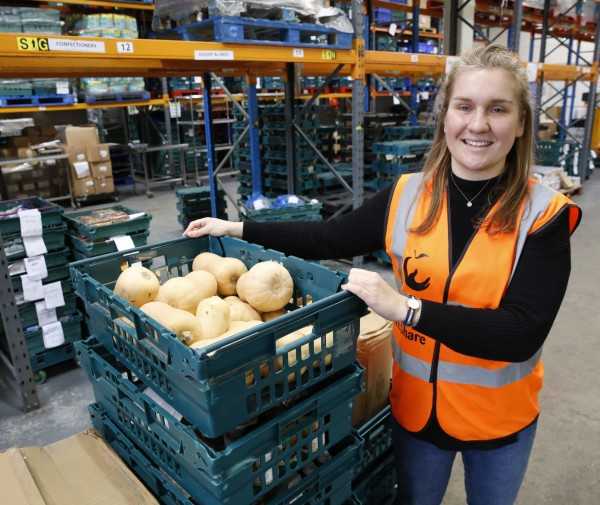 Philippa Conlin from FareShare's London depot