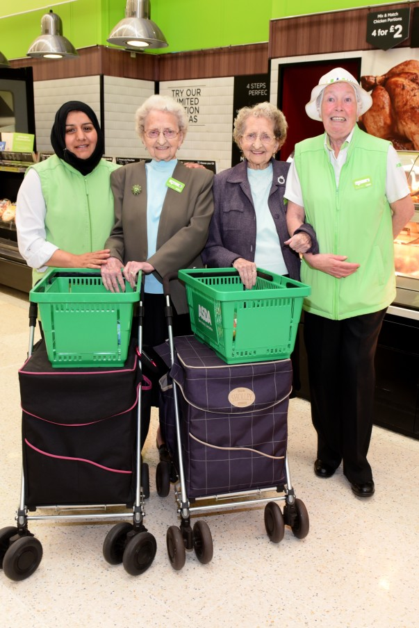 Meet customers Doris and Lil – Britain's oldest identical twins