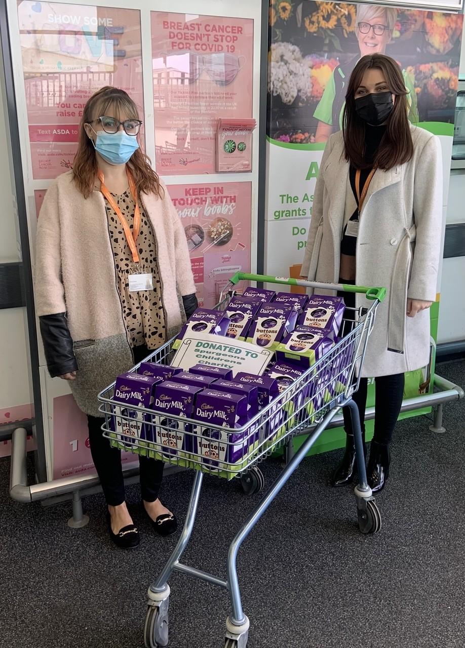 Donation to Spurgeons children's charity | Asda Sittingbourne
