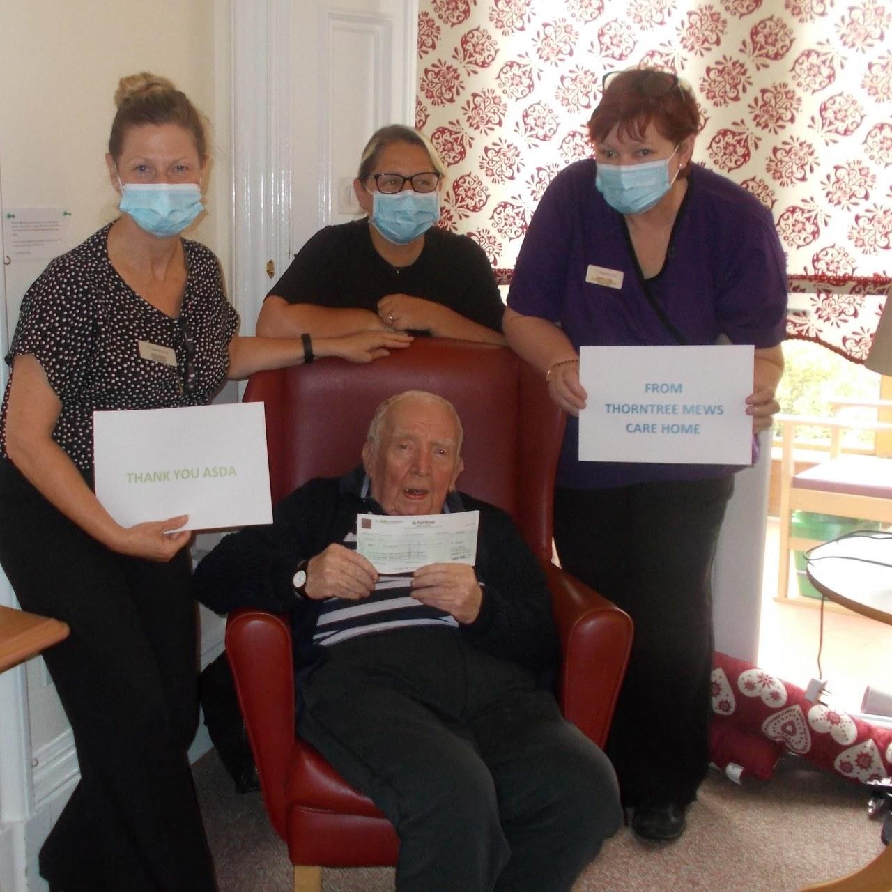 Hygiene grant for care home | Asda Falkirk