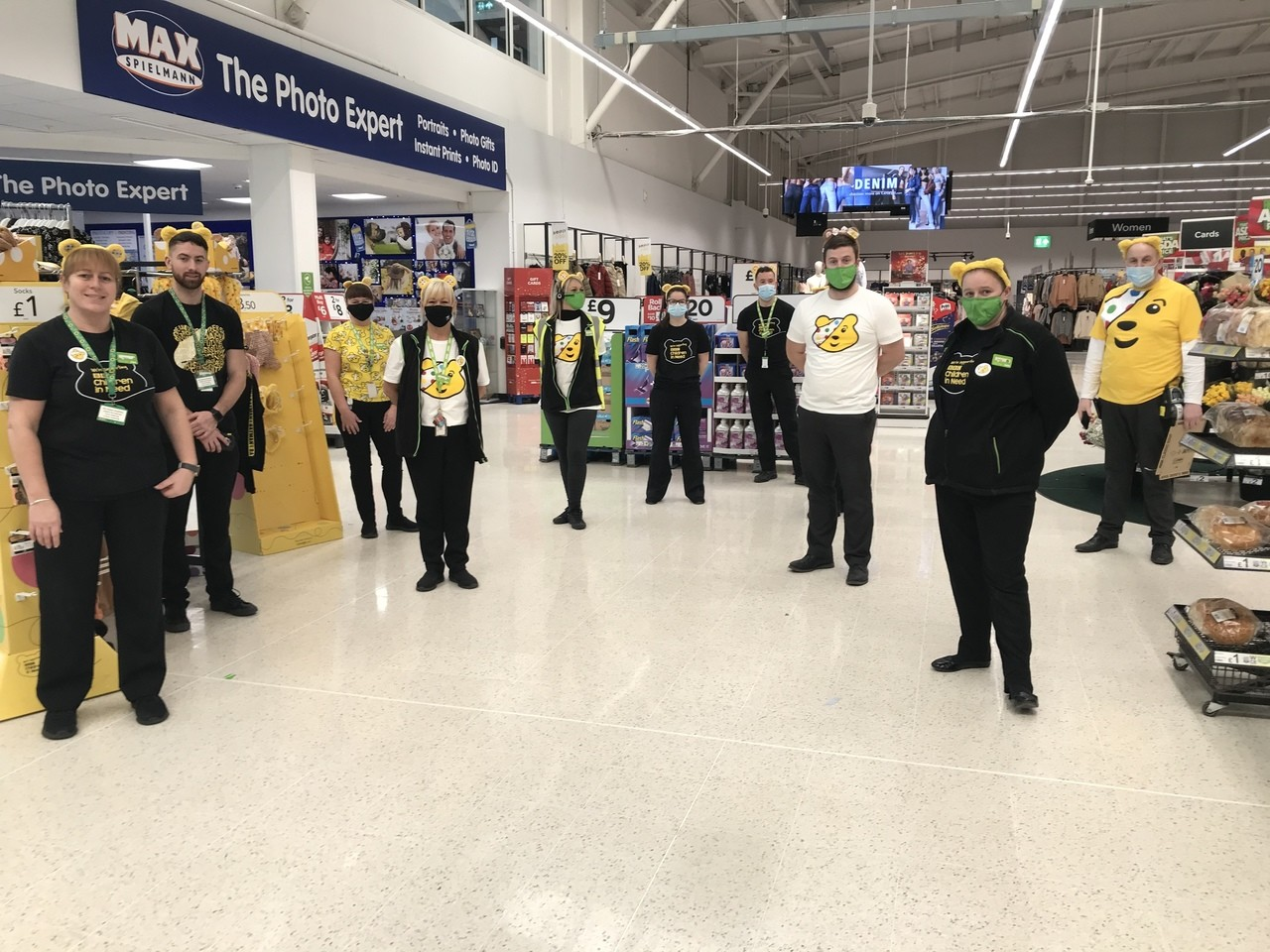 Pudsey Bear support | Asda Cardiff Bay