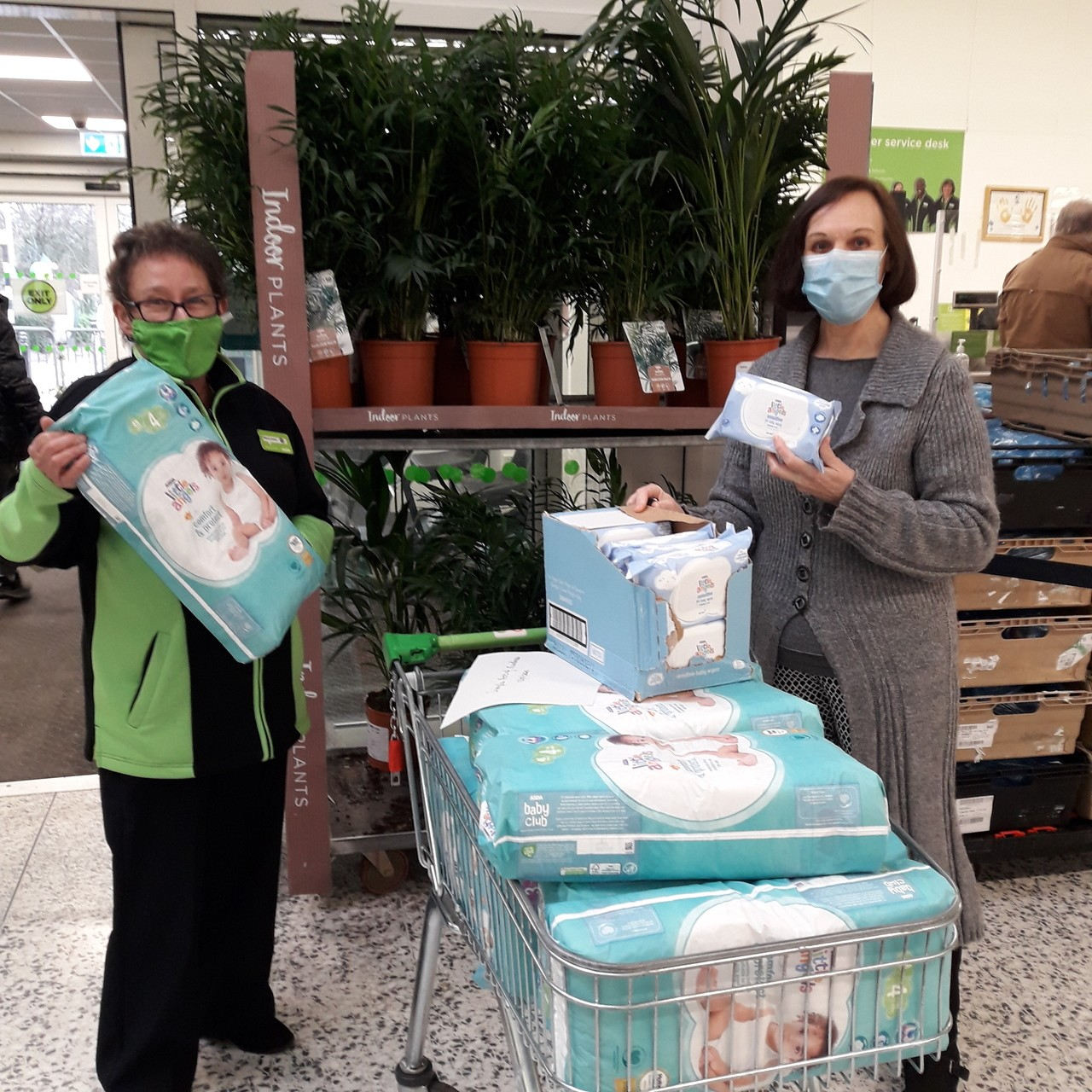 Baby essentials for local charity | Asda Wolverhampton