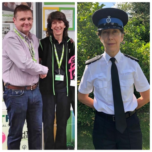 Sue Blackley from Asda Watford helps train police cadets in her spare time