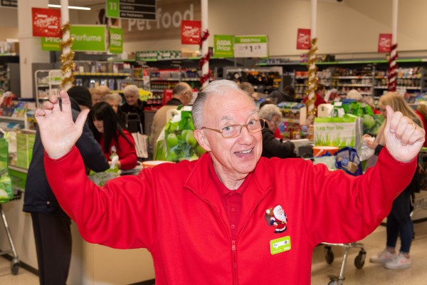Jim Cutaia is affectionately known as American Jim at Asda Falkirk