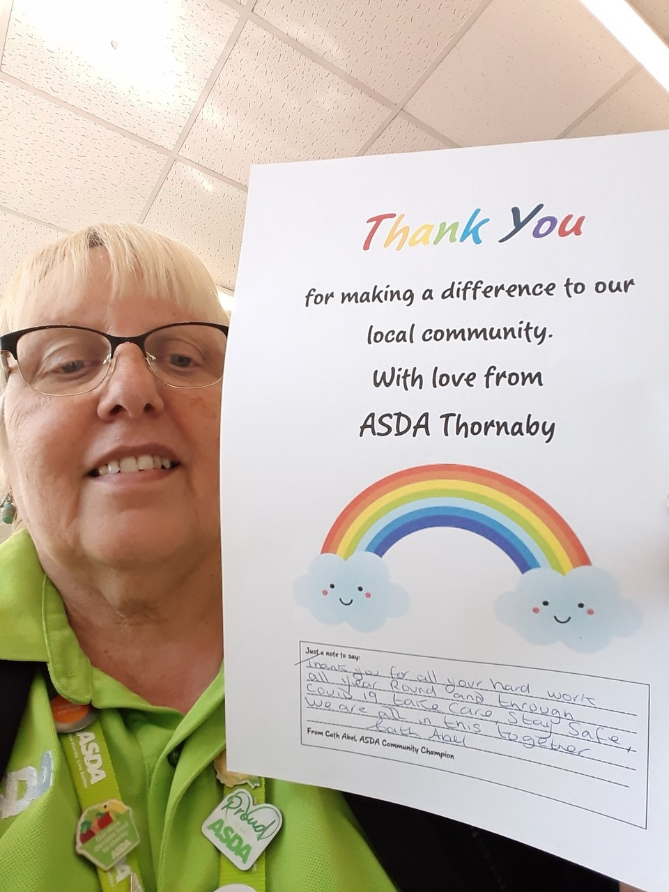 Thank you to all our volunteers  | Asda Thornaby