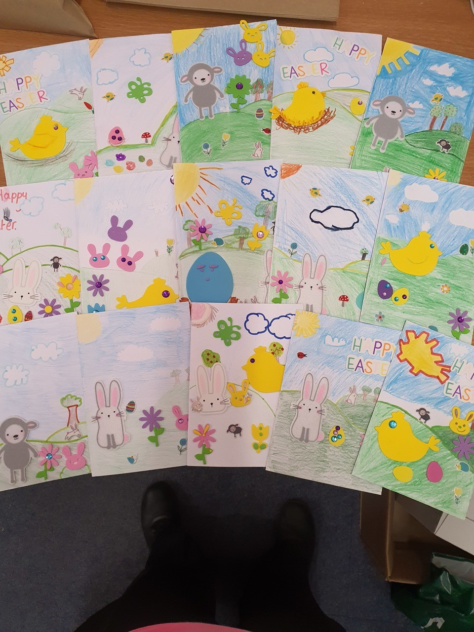 Easter cards for my Care Homes | Asda Leicester