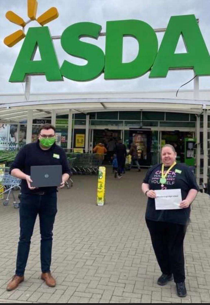 Laptop donation to school   Asda Dewsbury