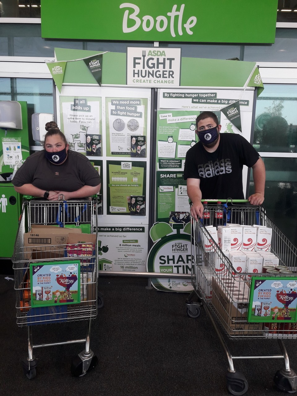 Donation for The Fillies Girls Football Club's food parcels | Asda Bootle