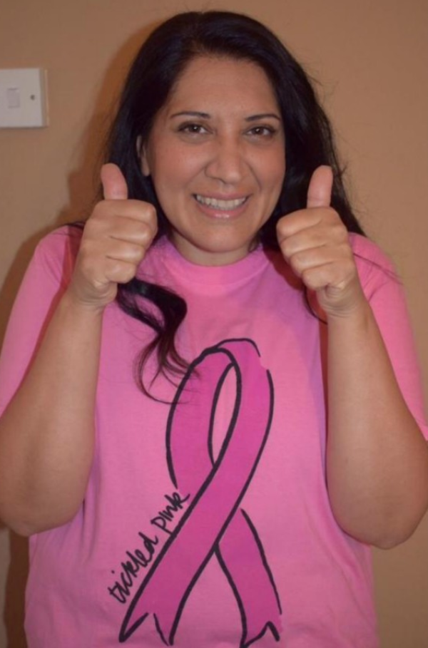 Angela Gidda from Asda Hayes supports Tickled Pink