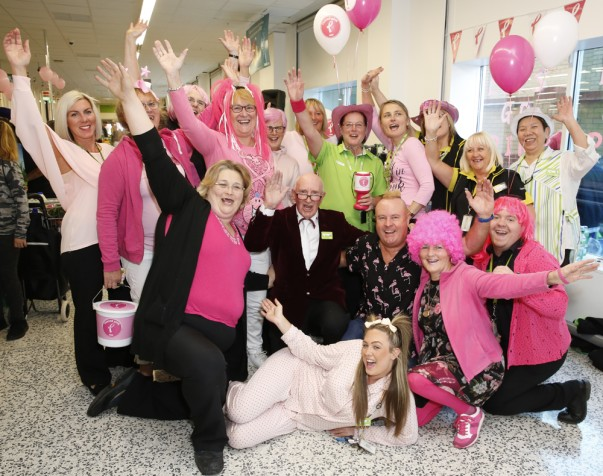 Colleagues at Asda Bexleyheath supporting Tickled Pink