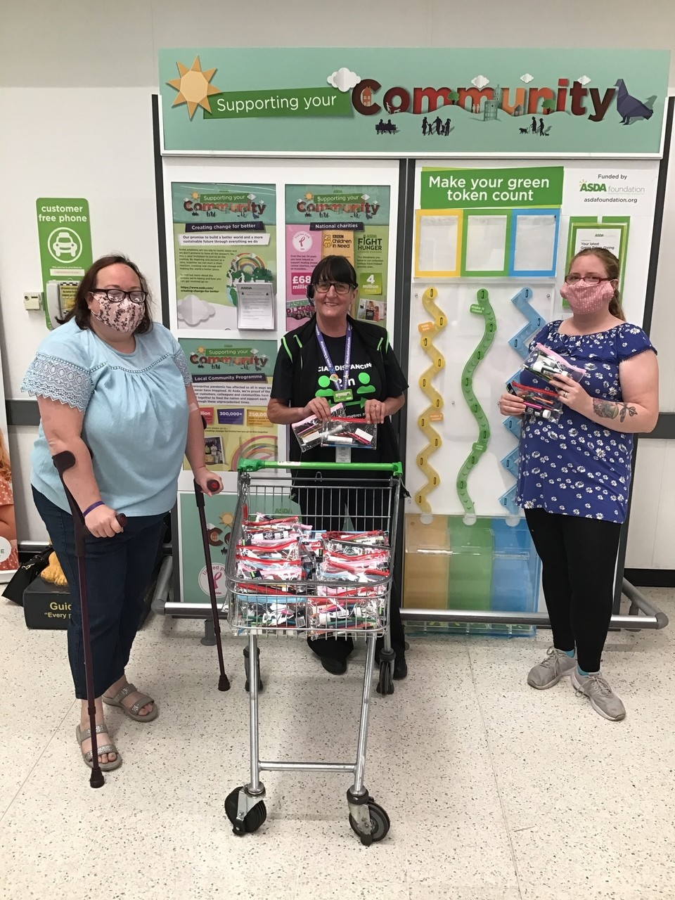 Donation to Brownies | Asda Broadstairs