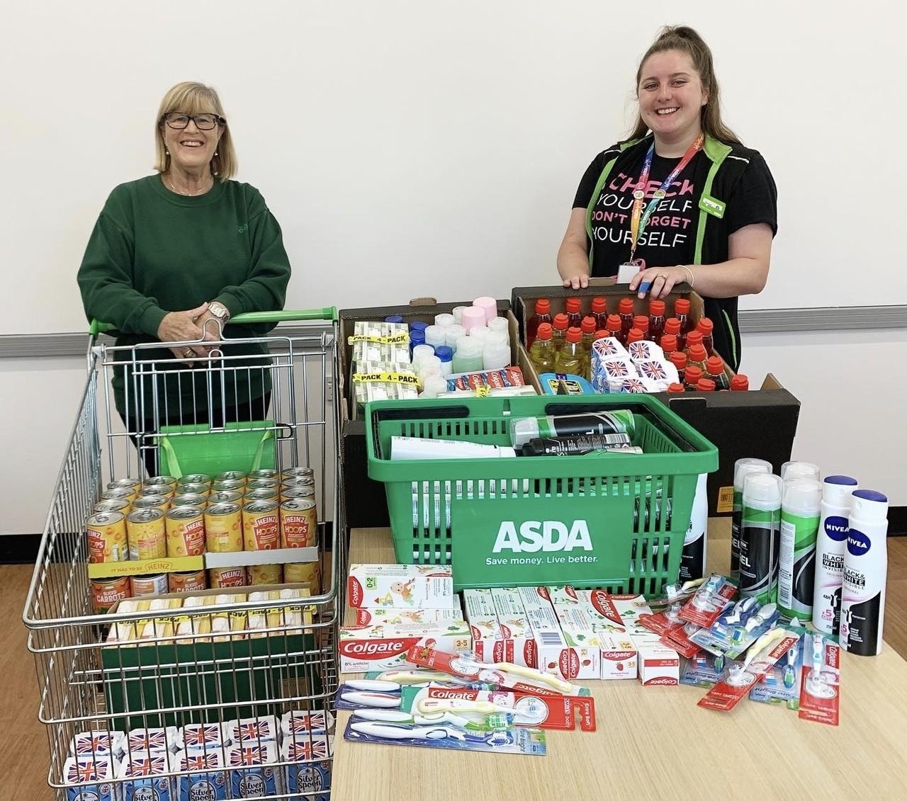 Donation to Newark Food Bank | Asda Newark